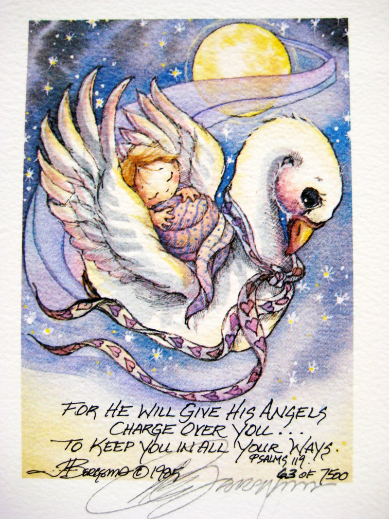 For he will give his angels charge over you . . . - DreamKeeper Print