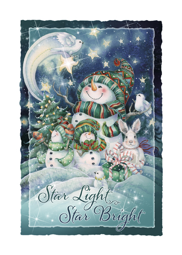 'Star Light, Star Bright' Holiday Greeting Card