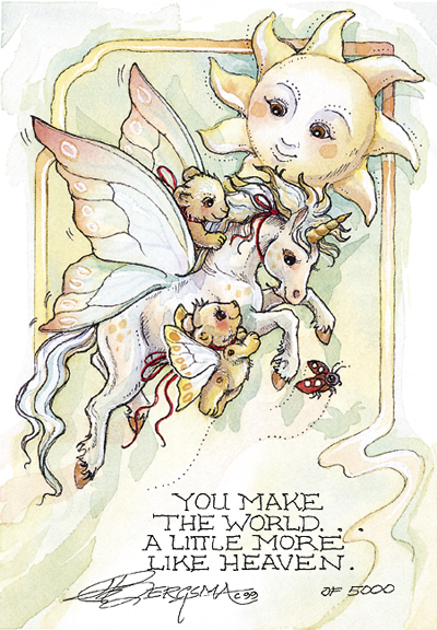 You Make The World... - DreamKeeper Print