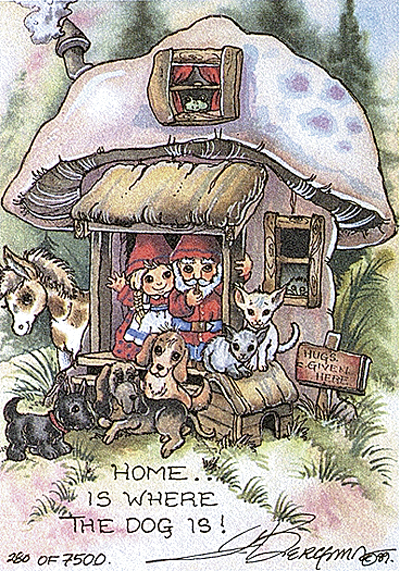 Home Is Where The Dog Is - DreamKeeper Print
