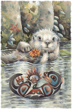 Otter Happiness Small Prints (Click for options & image enlargement)