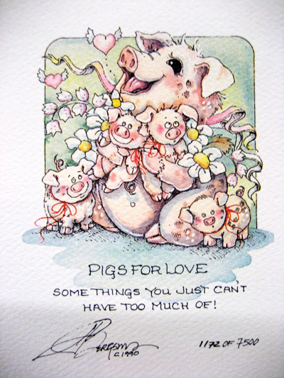 Pigs For Love - DreamKeeper Print