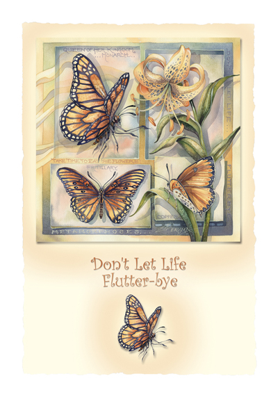 Butterflies / Don't Let Life Flutter-bye - Art Card