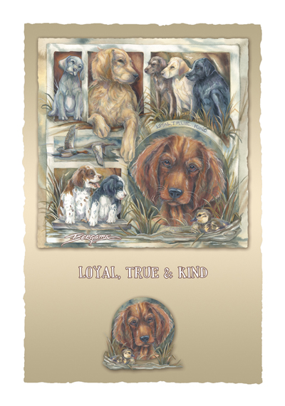Dogs / Loyal, True & Kind - Art Card