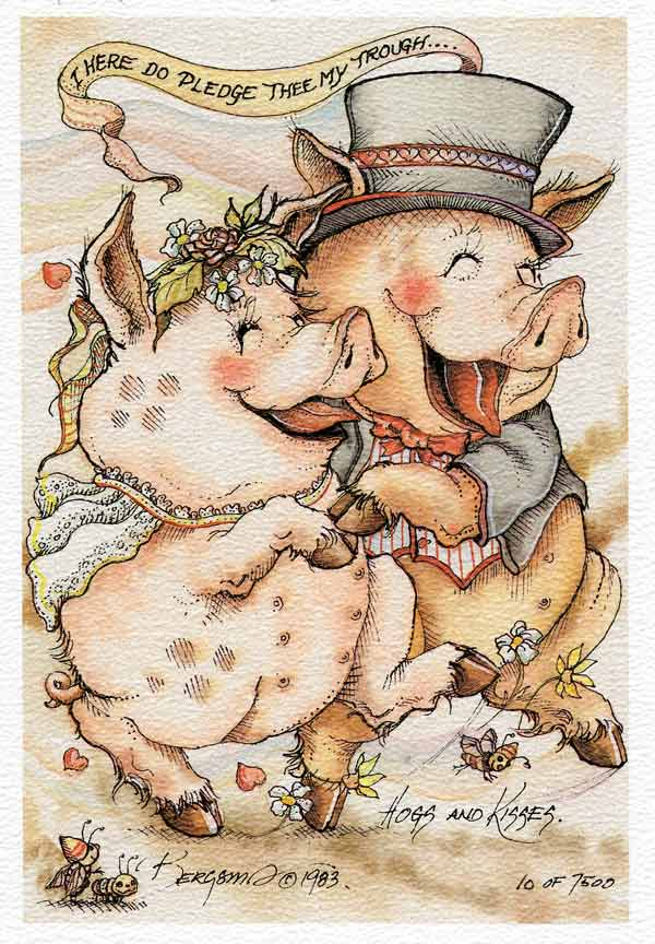 Hogs And Kisses - DreamKeeper Print