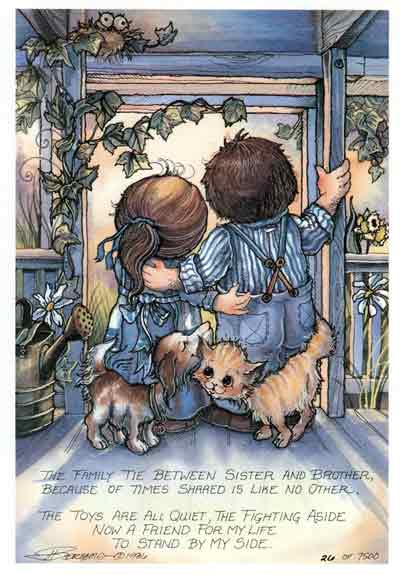 The Family Tie Between Sister And Brother... - DreamKeeper Print