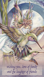 Faeries / Amid Hummers Night Dream... There's Magic On The Wind - Mailable Mini