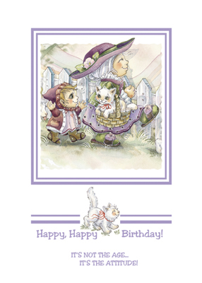 Birthday / Happy, Happy Birthday - Art Card