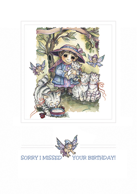 Birthday / Sorry I Missed Your Birthday - Greeting Card