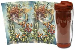 Mermaids & Sea Faeries / Let Dreams Live - Travel Mug