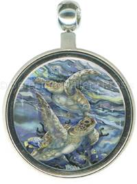Turtles / Sea Tranquility - Pendant