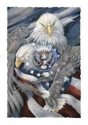 Eagles (Bald) / Sheltered Under Mighty Wings - Art Card