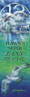 'Hawks Soar, Fans Roar' Bookmark