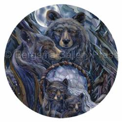Bears (Black) / Journey To The Dreamtime - Coaster