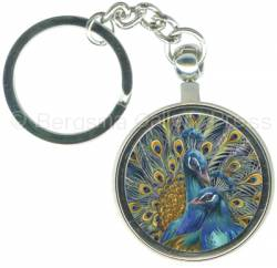 Peacocks / Blue Rhapsody - Key Chain