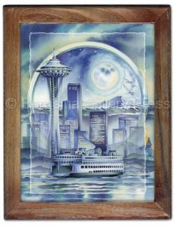 Cityscapes / Seattle... - Framed Tile