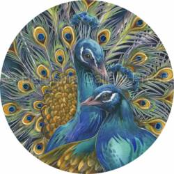 Peacocks / Blue Rhapsody - Coaster