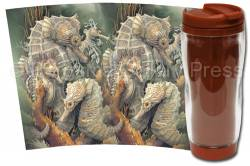 Seahorses / Beyond Imagination - Travel Mug