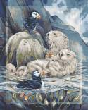Puffin With Love for each Otter - Fleece Blanket