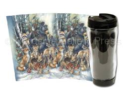 Bears (Black) / Celebrate The Season Of Peace - Travel Mug