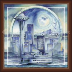 Cityscape / Seattle... City Of Dreams - Tile Box