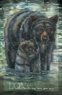 Bears (Black) / This Bears My Love For You - 11 x 17 inch Poster