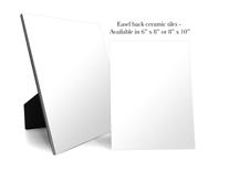 Special Order - Generic Blank Easel Back Tile