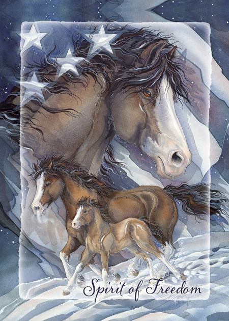 Horses / Spirit of Freedom - Magnet