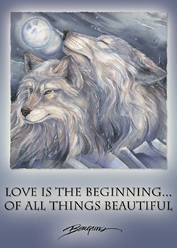 Love Is The Beginning Of All Things Beautiful - Magnet