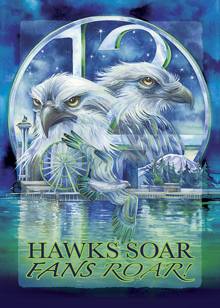 'Hawks Soar...Fans Roar'  Magnet