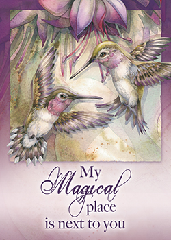 'My Magical Place Is Next To You' Magnet