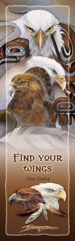 Eagles (Bald) / Find Your Wings (Eagle Spirit) - Bookmark