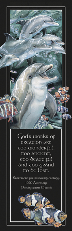 Dolphins / Peace, Love & Laughter - Bookmark