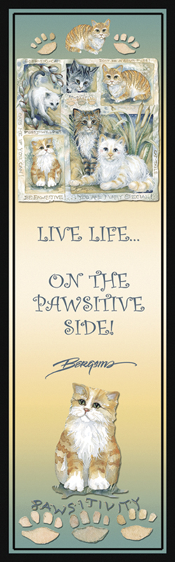 Cats / Be Pawsitive - Bookmark