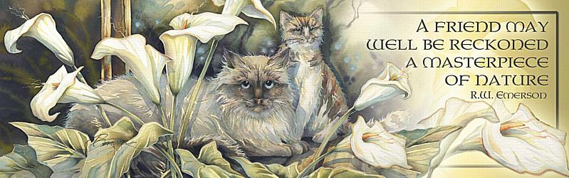 Cats / Cat-a-lilies - Bookmark
