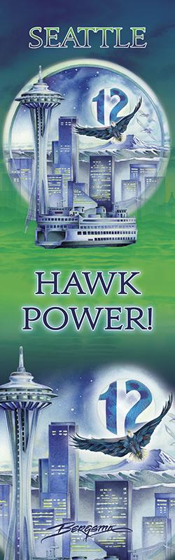 Seattle...Hawk Power! - Bookmark