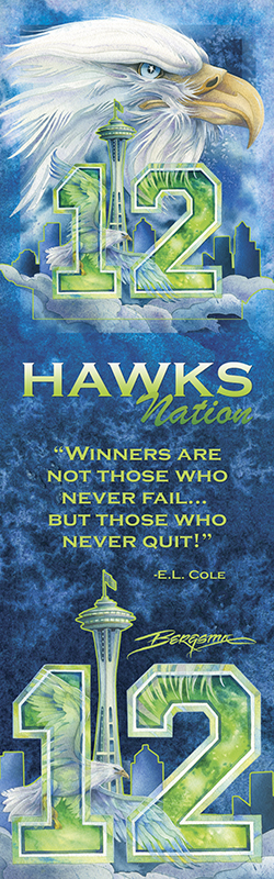 'Hawks Nation' Bookmark