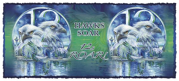 'Hawks Soar...Fans Roar' 15oz. Mug
