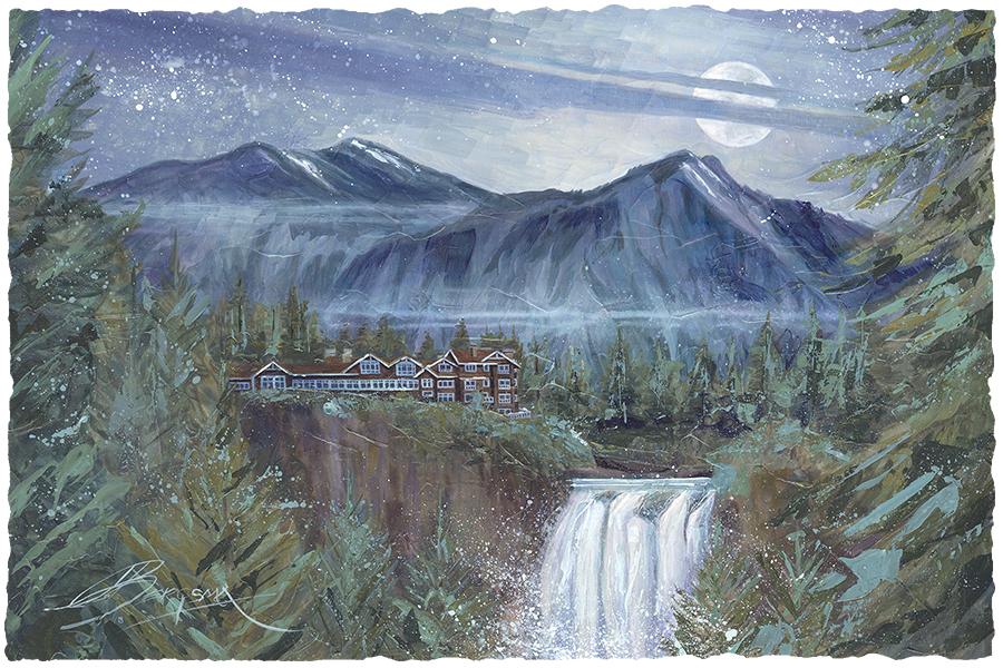 Moonlit Falls Large Prints (Click for options & image enlargement)