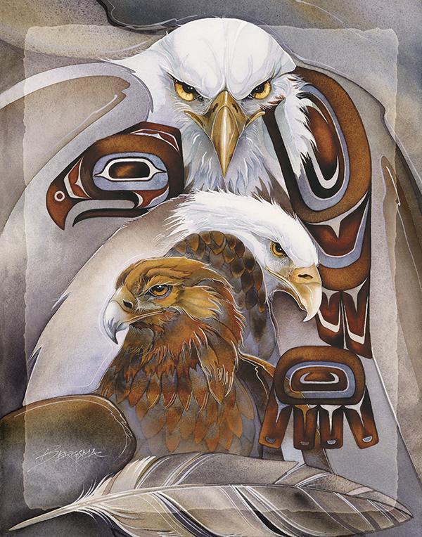 Eagles (Multiple) / Eagle Spirit - 11 x 14 in Poster