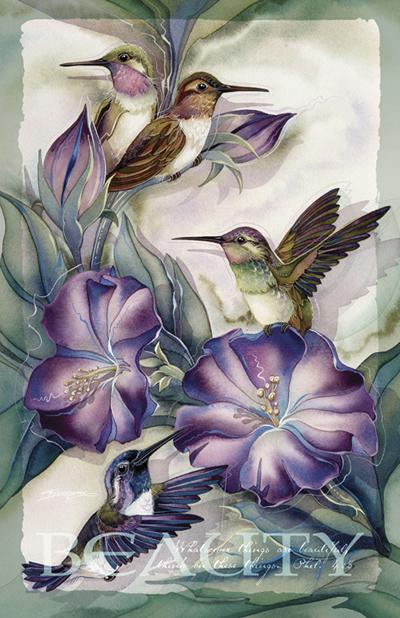Hummingbirds / Hummertime - 11 x 14 in Poster
