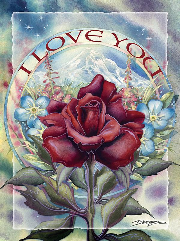I Love You - Easel Back Tile