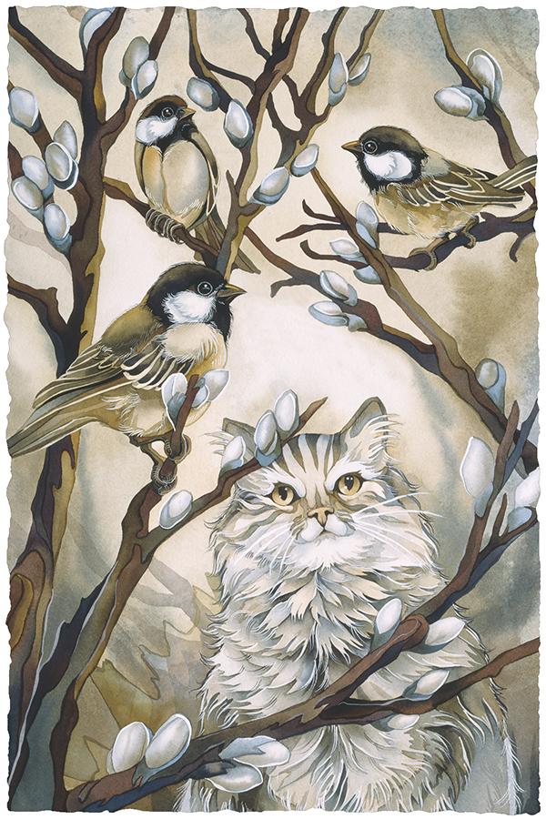 Here Birdie Birdie Small Prints (Click for options & image enlargement)