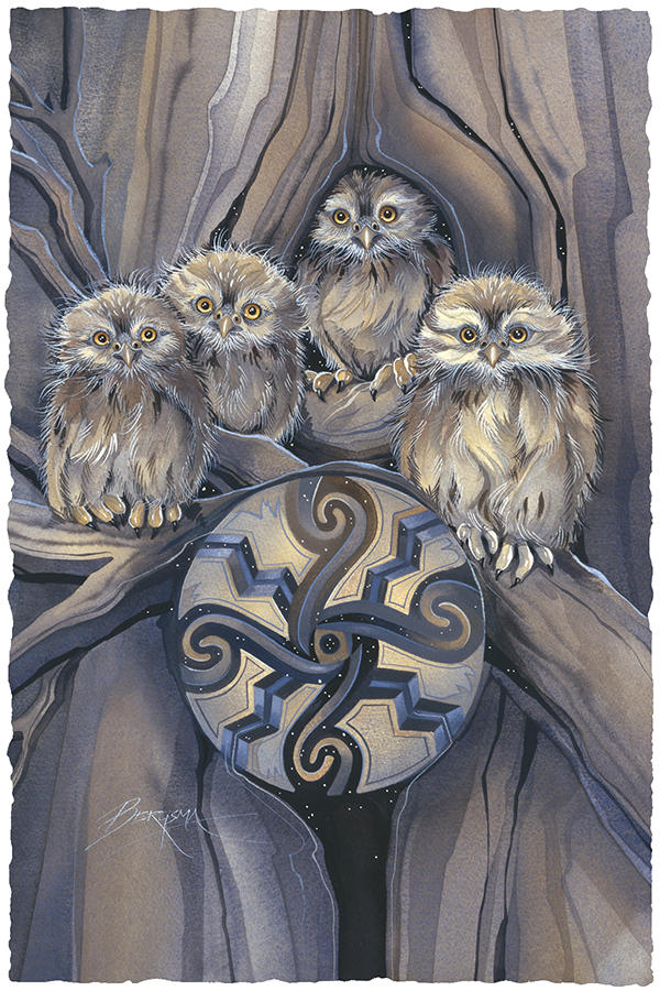 Little Owl Medicine Large Prints (Click for options & image enlargement)