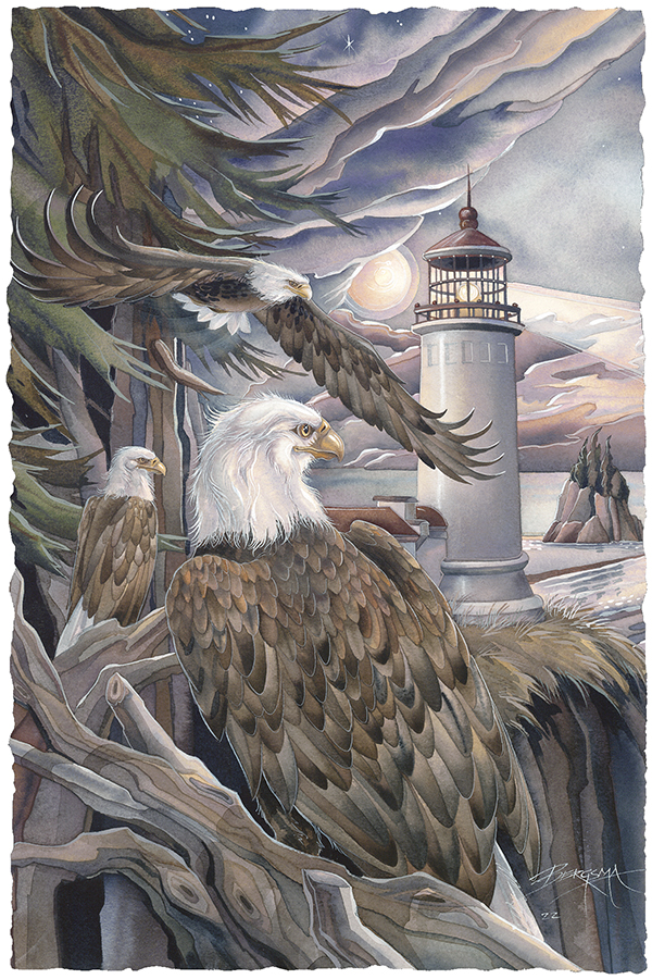 In The Company Of Eagles Small Prints (Click for options & image enlargement)
