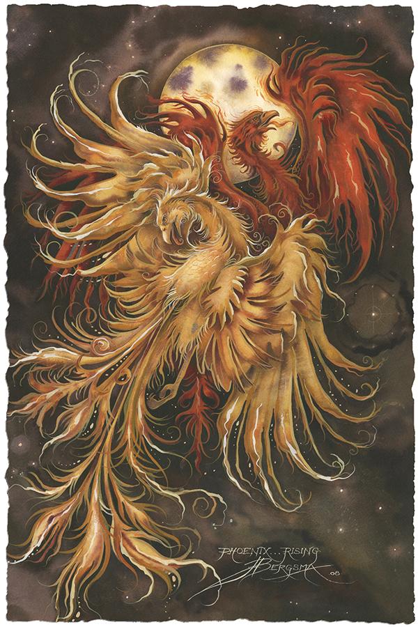 Phoenix Rising Small Prints (Click for options & image enlargement)