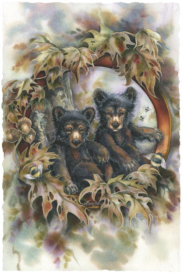 Bears (Black) / Simple Joys - Art Card