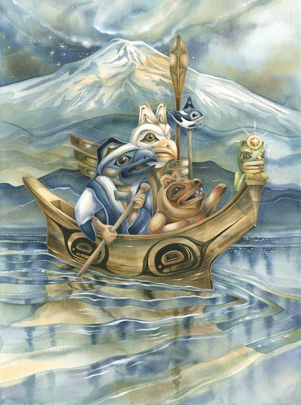 Canoe Journey, Ancient Ones Guide Us - Prints
