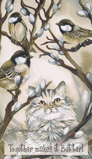 Cats / Here Birdie, Birdie - Mailable Mini