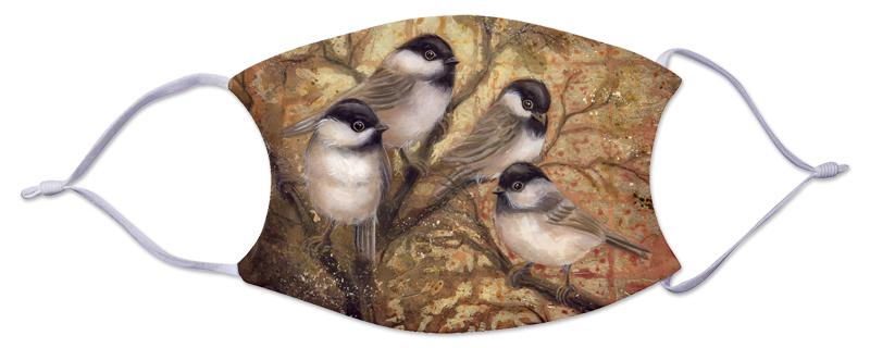Face Mask - Birds/Chickadees
